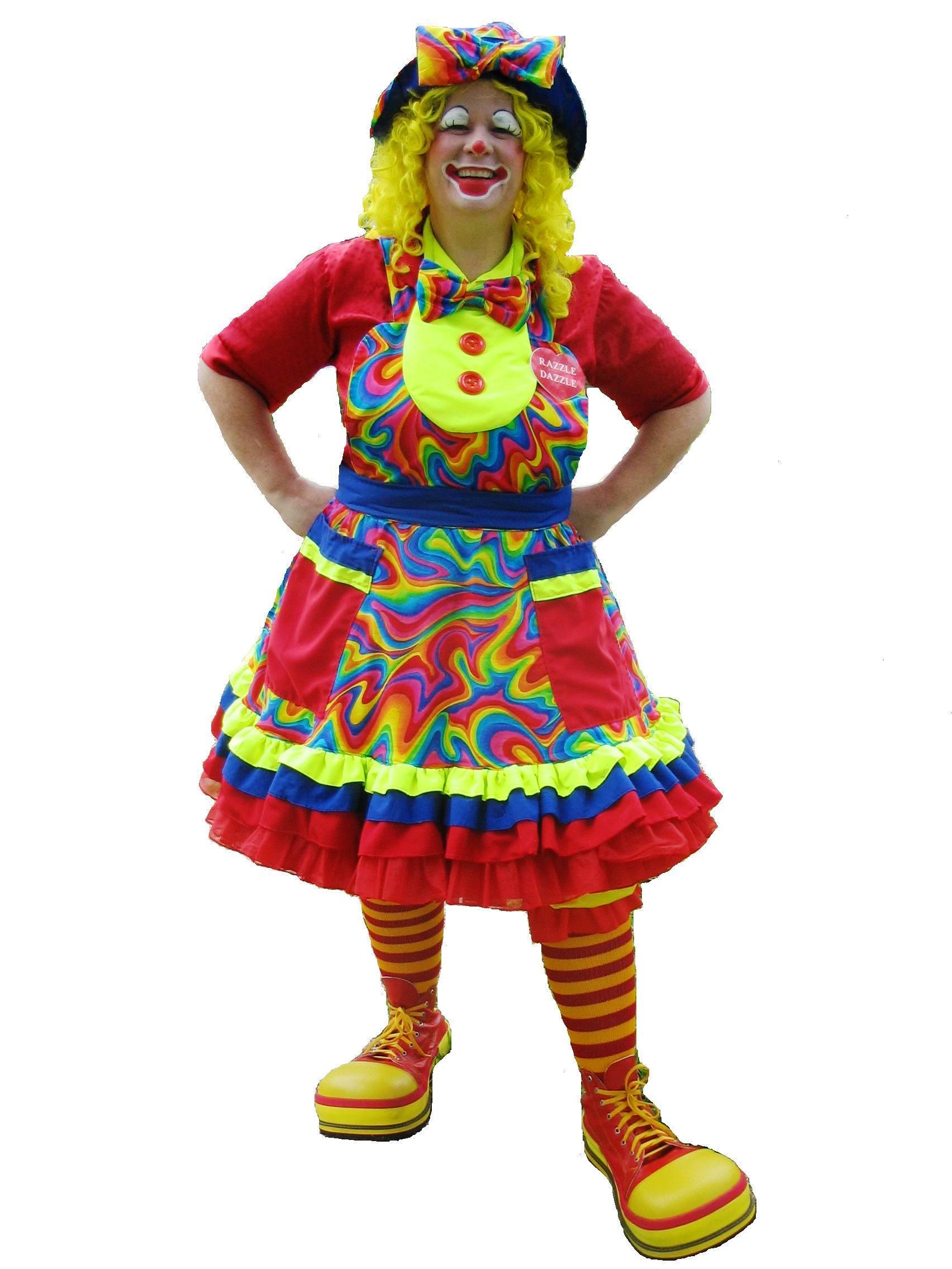 ill avoiding head-to-toe prints Clown
